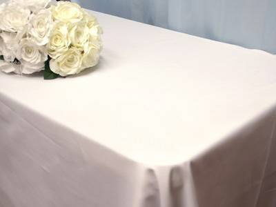 Where to find LINEN, WHITE TABLECLOTH 52  X 114 in South St. Paul