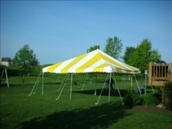 Where to rent CANOPY 15X15, YELLOW   WHITE in South St. Paul MN