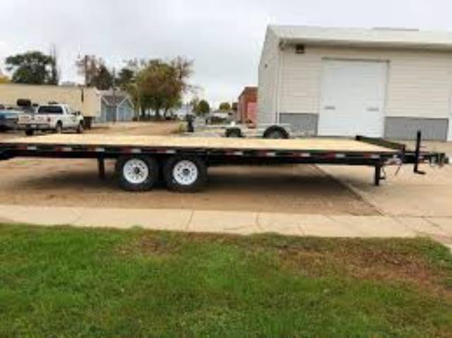 Where to find TRAILER 8  X 20  FLATBED DECK OVER in South St. Paul